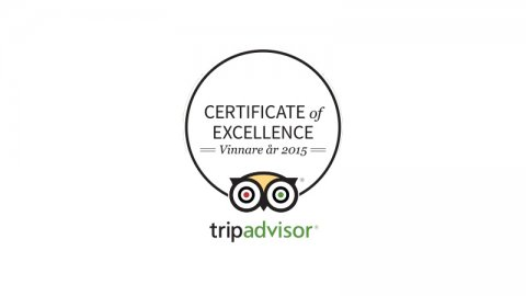 The Tripadvisor certificate of excellence 2015 !