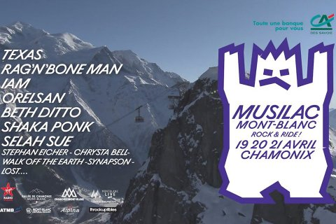 Musilac Mont-Blanc, pop rock festival 19 to 21 April